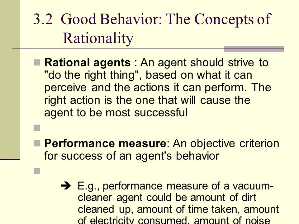 3.2 Good Behavior: The Concepts of Rationality