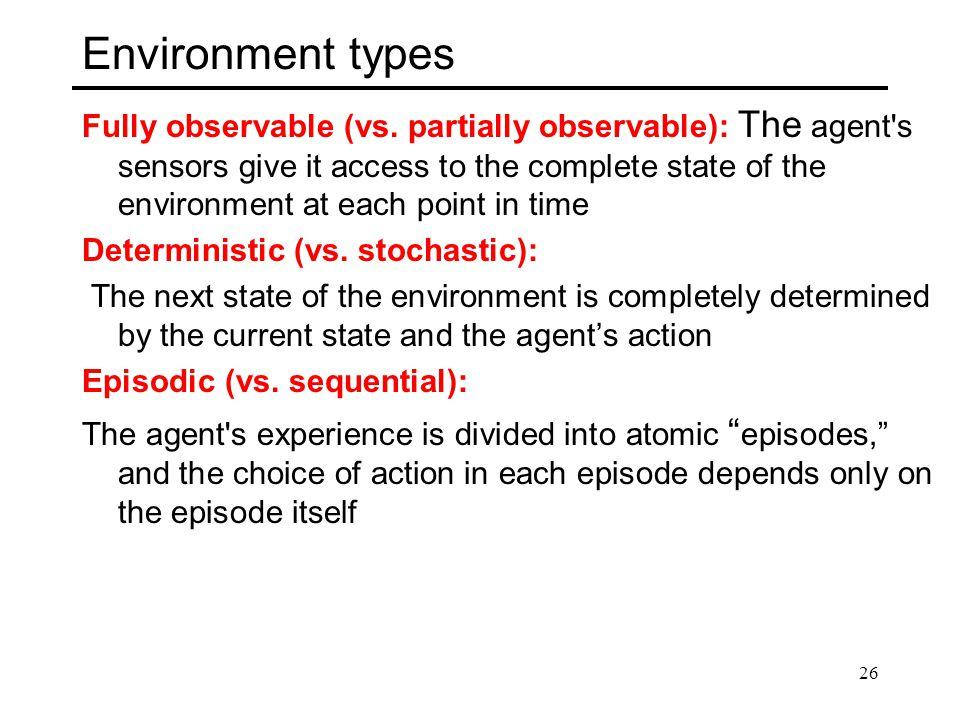 Environment types