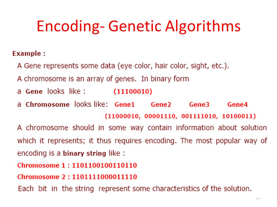 Encoding- Genetic Algorithms