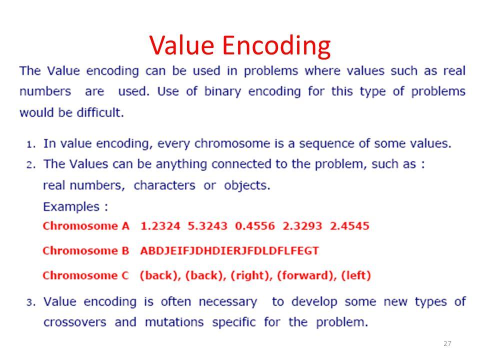 Value Encoding