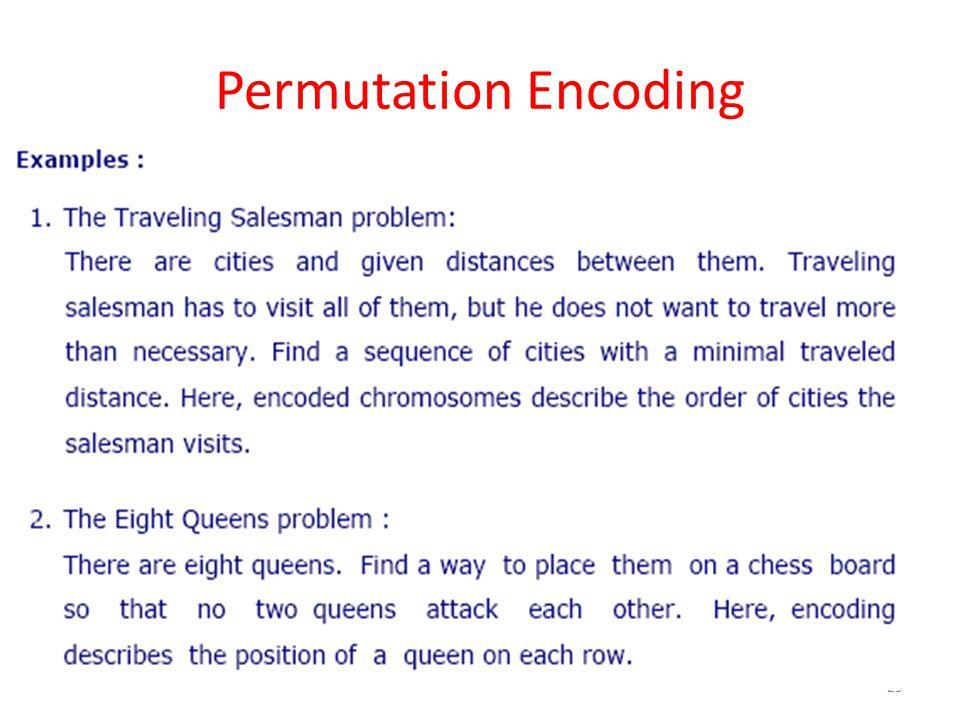 Permutation Encoding