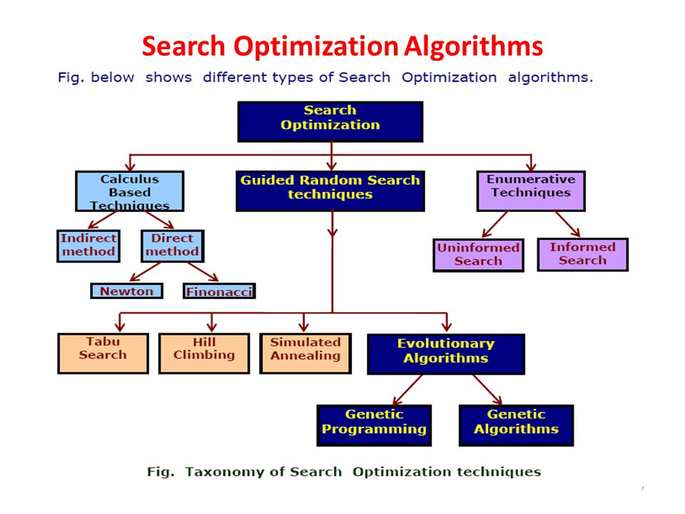 Search Optimization Algorithms