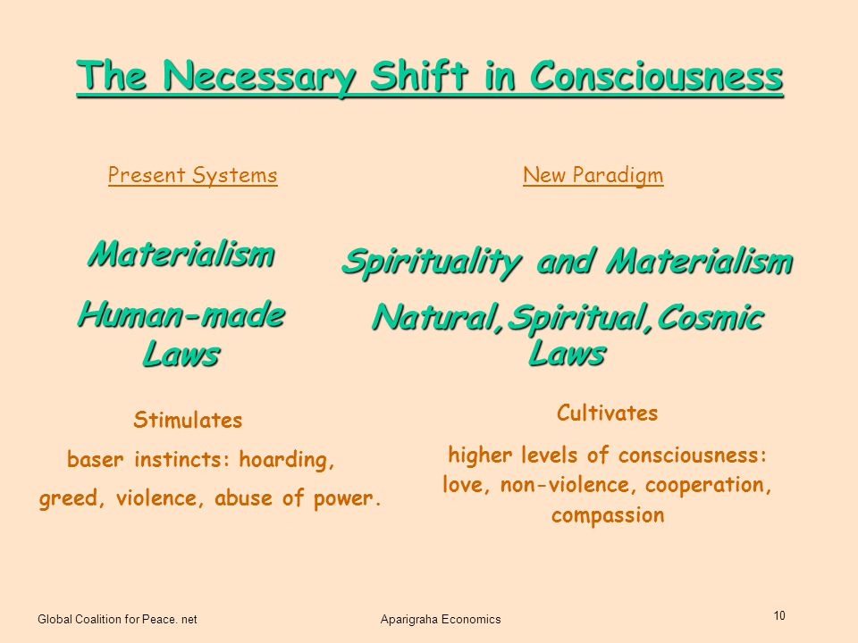 The Necessary Shift in Consciousness
