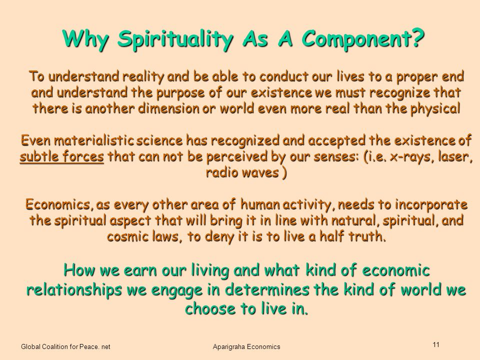 Why Spirituality As A Component