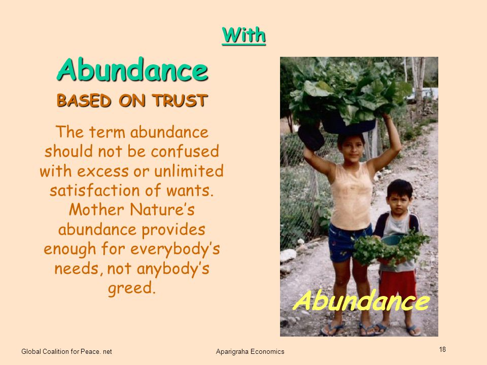 Abundance Abundance With BASED ON TRUST