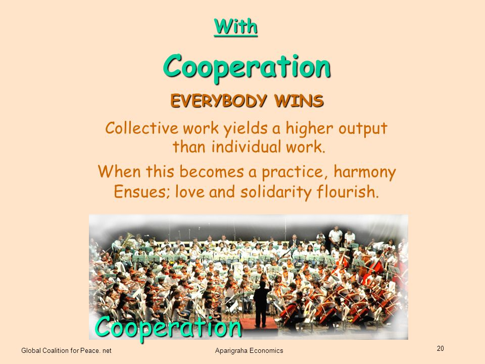 Cooperation Cooperation With EVERYBODY WINS
