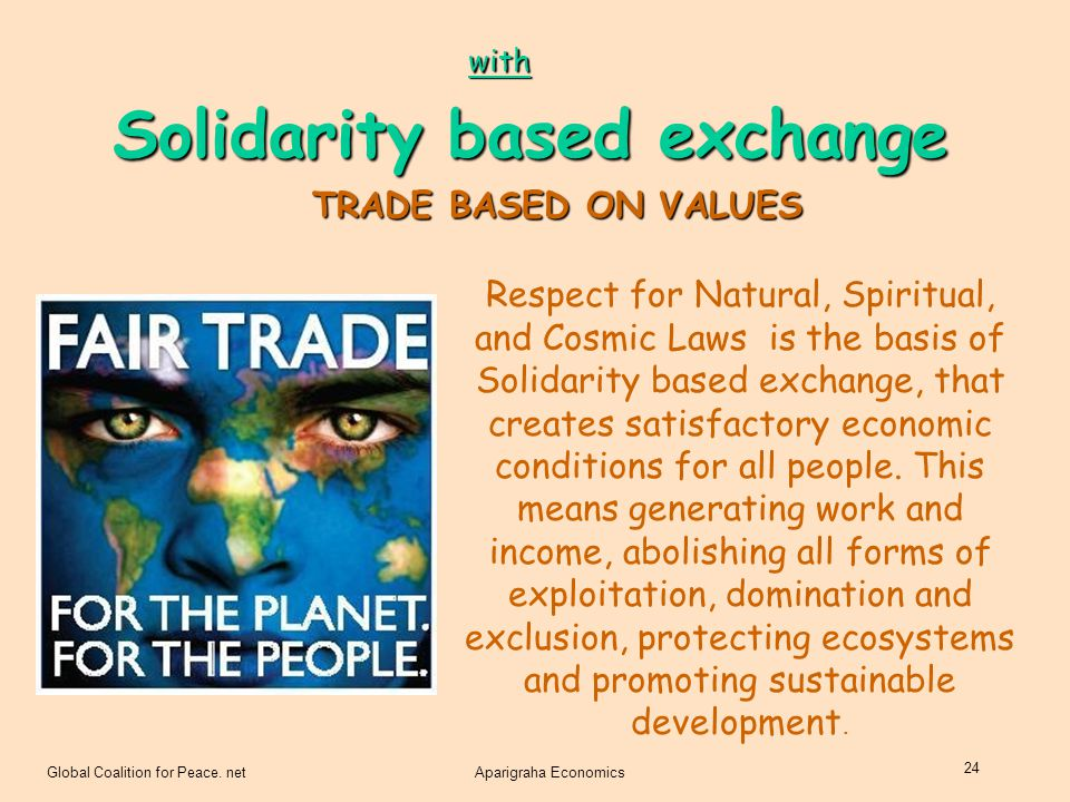 Solidarity based exchange