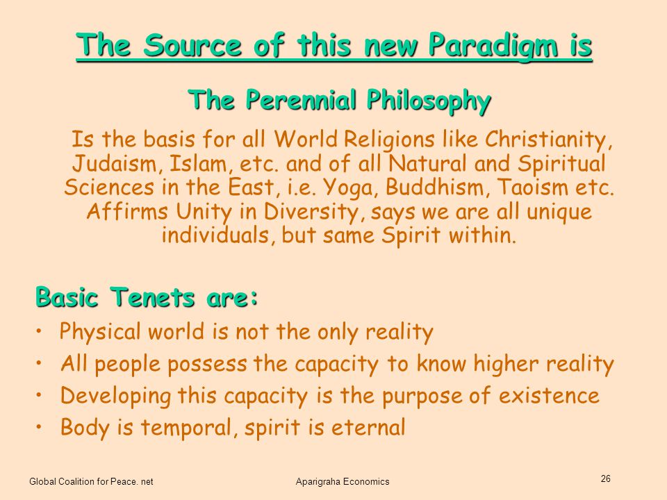 The Source of this new Paradigm is