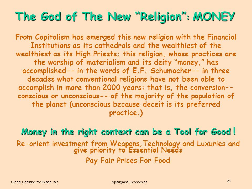 The God of The New Religion : MONEY