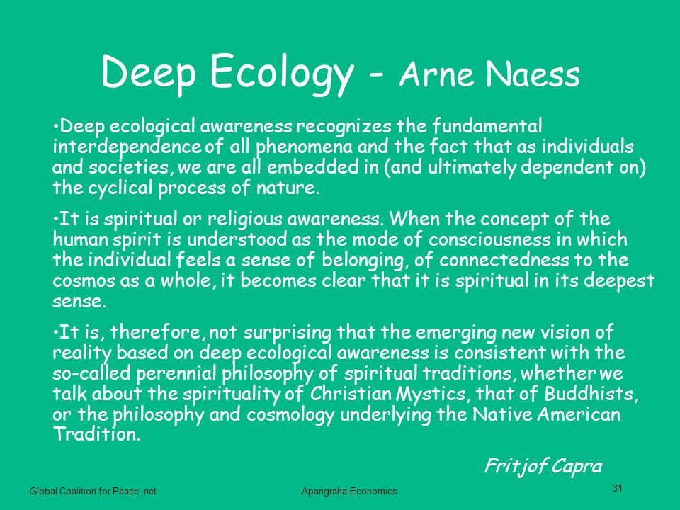 Deep Ecology - Arne Naess