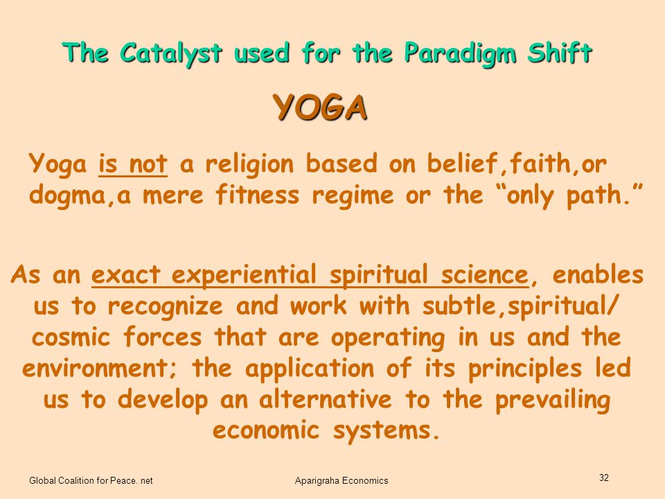 YOGA The Catalyst used for the Paradigm Shift