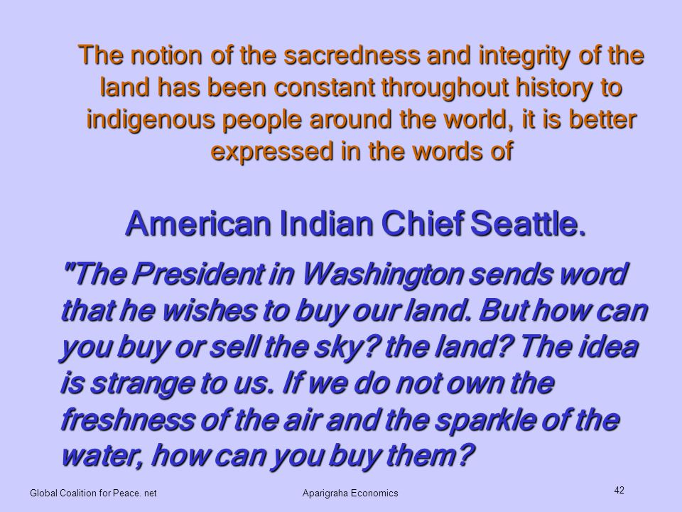 American Indian Chief Seattle.