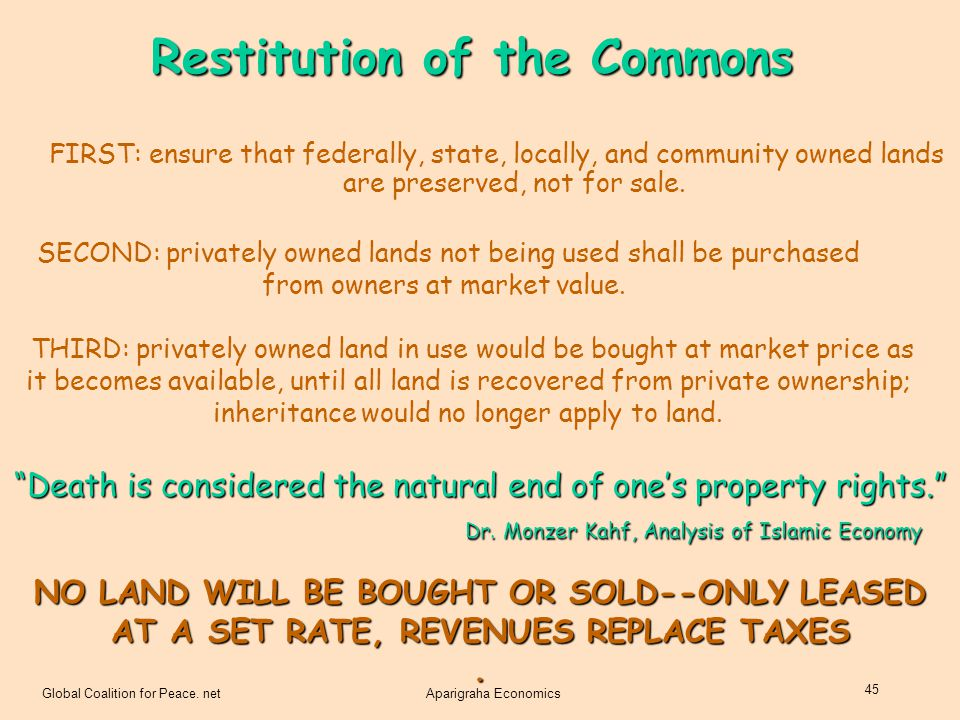 Restitution of the Commons