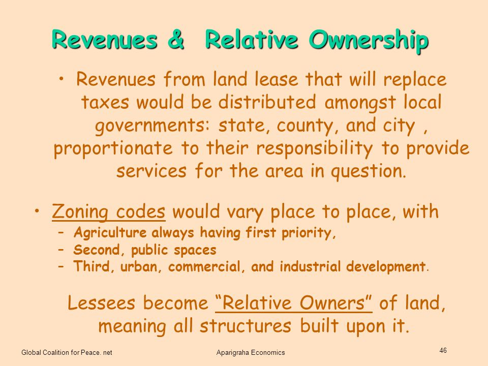 Revenues & Relative Ownership