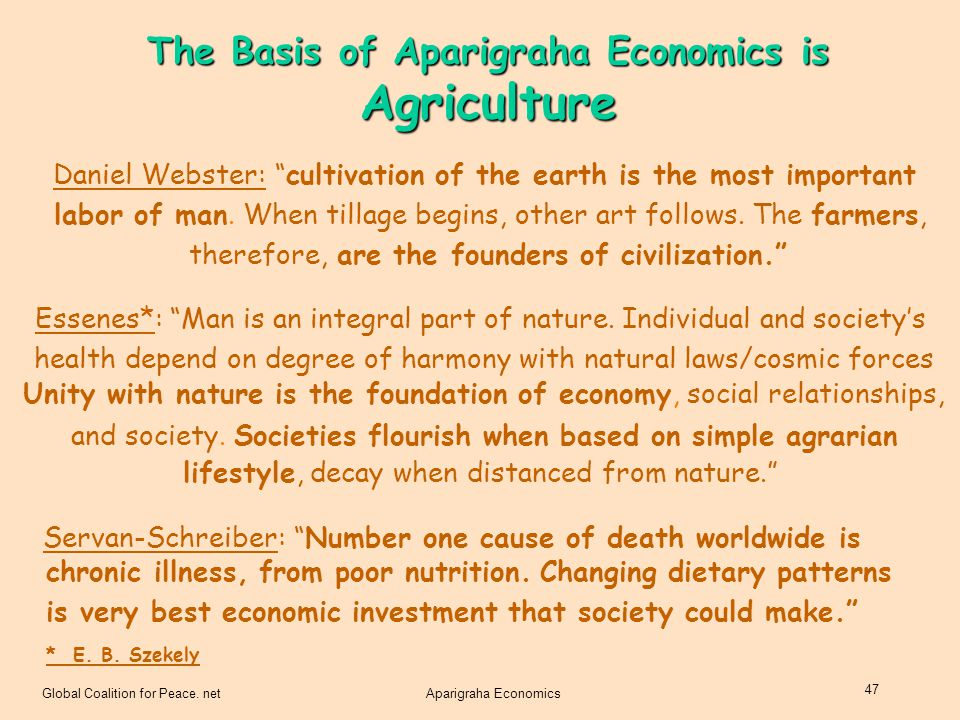 The Basis of Aparigraha Economics is