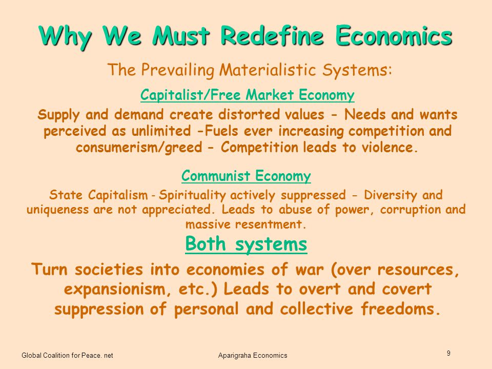 Why We Must Redefine Economics