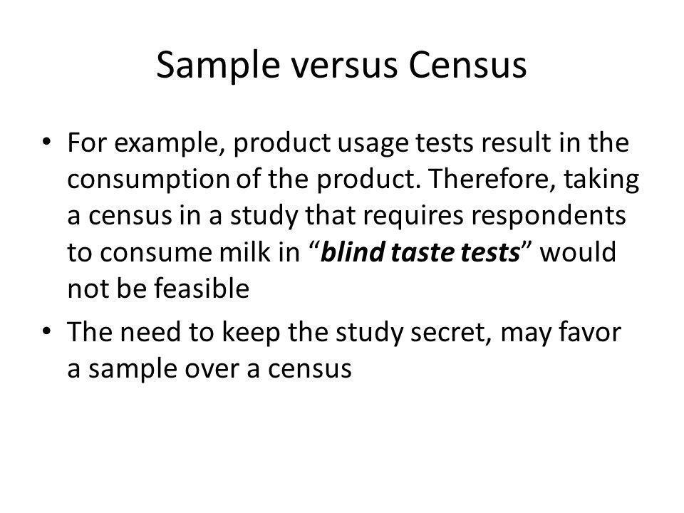 Sample versus Census