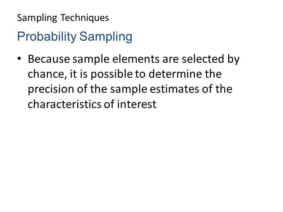 Sampling Techniques Probability Sampling.