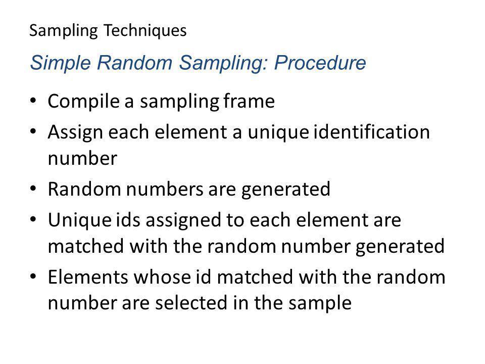 Compile a sampling frame