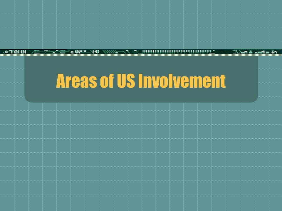Areas of US Involvement