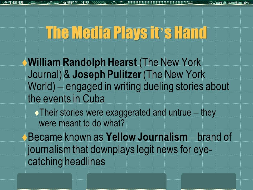 The Media Plays it's Hand