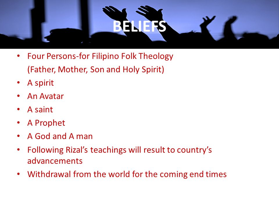 BELIEFS Four Persons-for Filipino Folk Theology