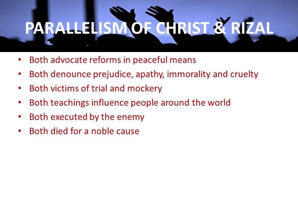 PARALLELISM OF CHRIST & RIZAL