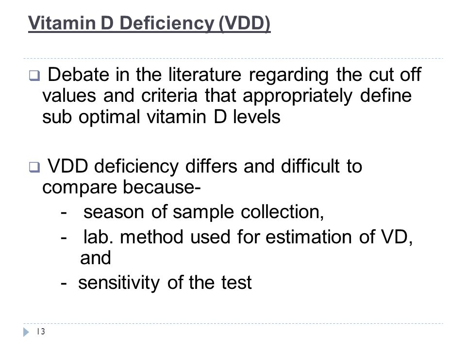 Vitamin D Deficiency (VDD)