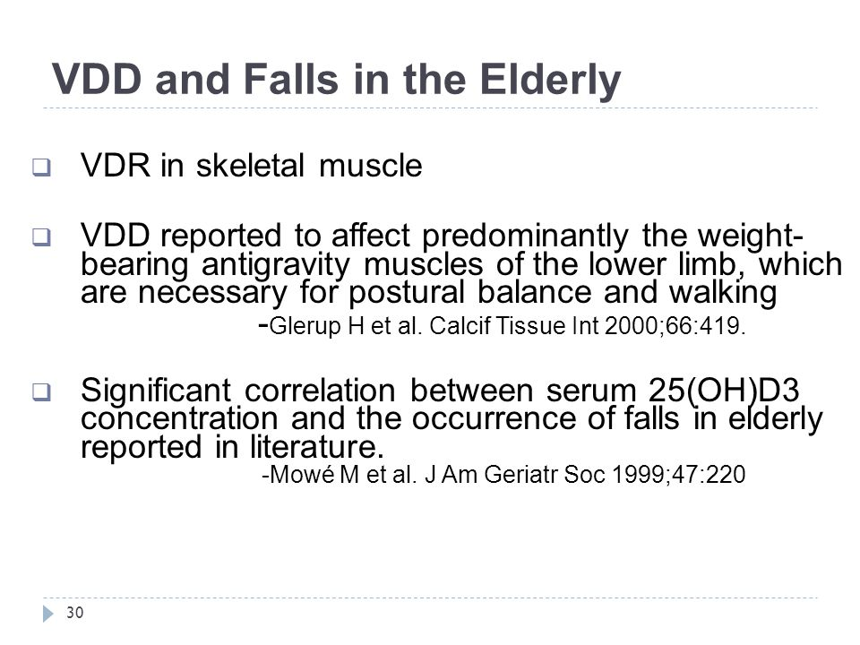 VDD and Falls in the Elderly