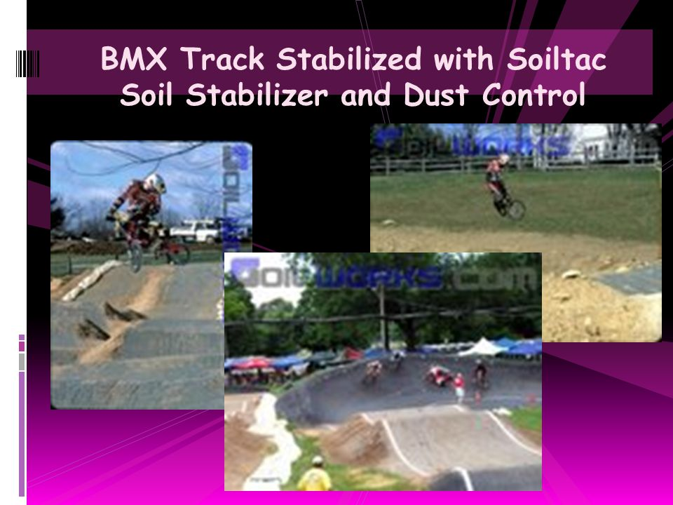BMX Track Stabilized with Soiltac Soil Stabilizer and Dust Control