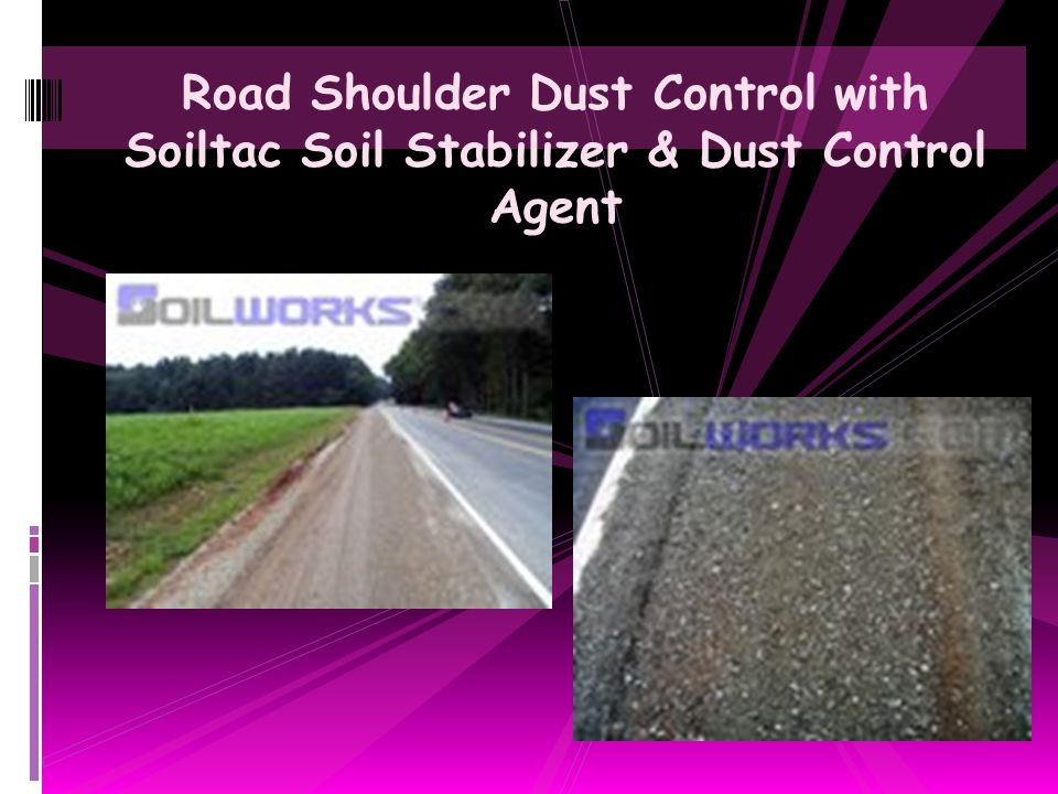 Road Shoulder Dust Control with Soiltac Soil Stabilizer & Dust Control Agent