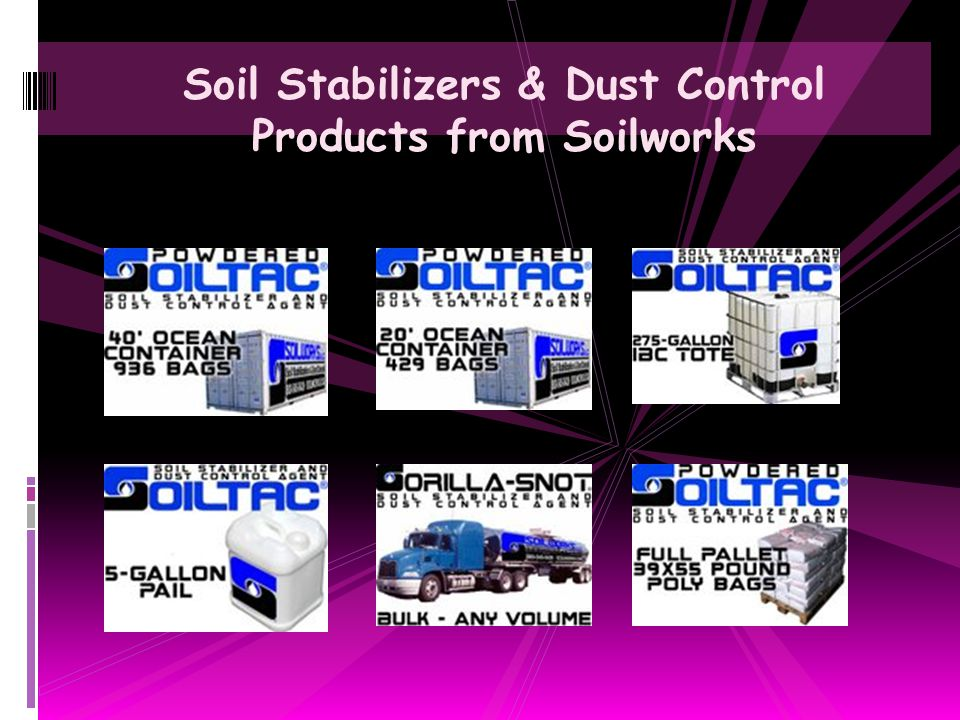 Soil Stabilizers & Dust Control Products from Soilworks