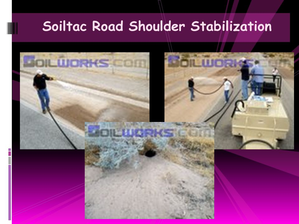 Soiltac Road Shoulder Stabilization