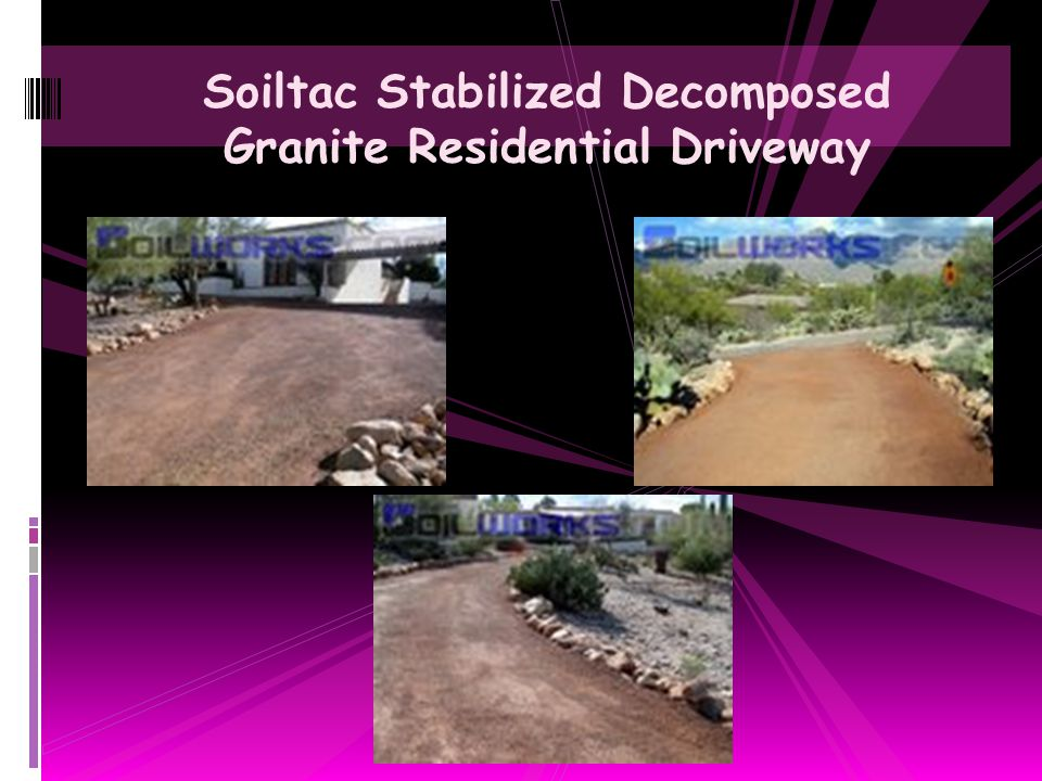 Soiltac Stabilized Decomposed Granite Residential Driveway