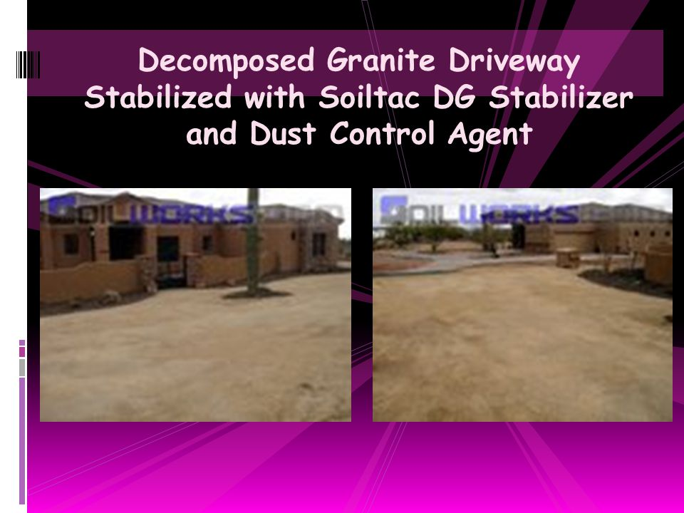 Decomposed Granite Driveway Stabilized with Soiltac DG Stabilizer and Dust Control Agent