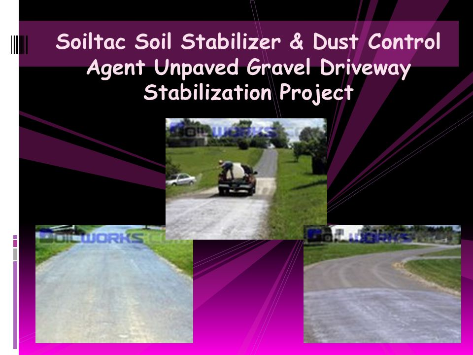 Soiltac Soil Stabilizer & Dust Control Agent Unpaved Gravel Driveway Stabilization Project