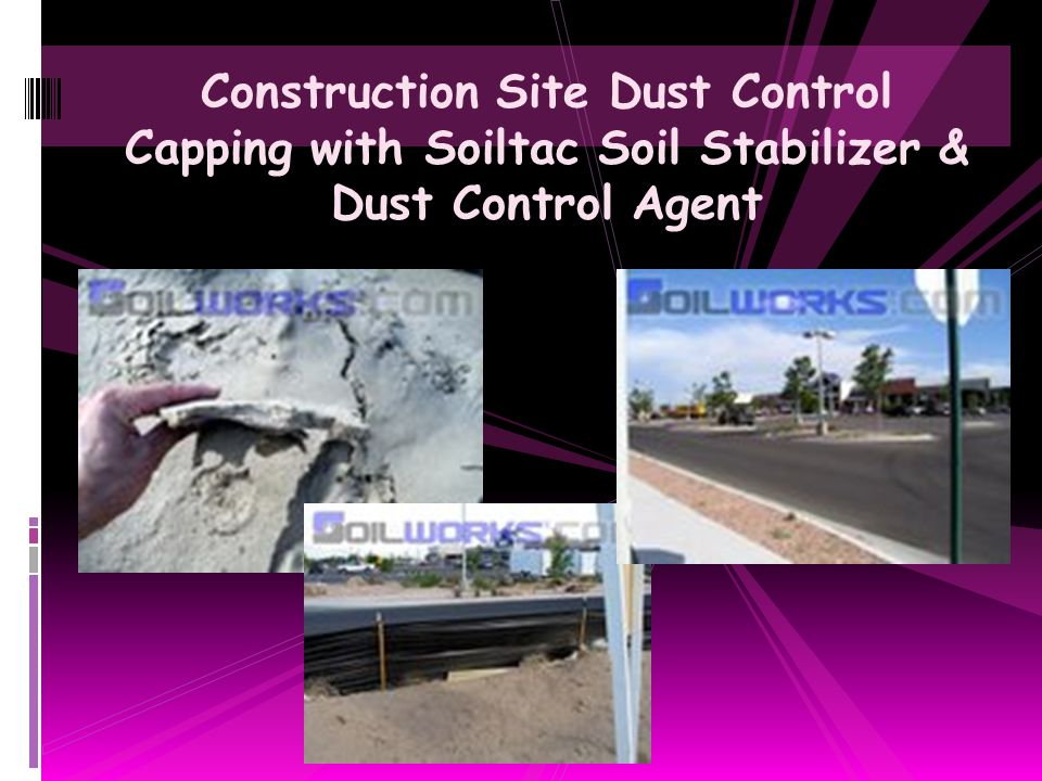 Construction Site Dust Control Capping with Soiltac Soil Stabilizer & Dust Control Agent