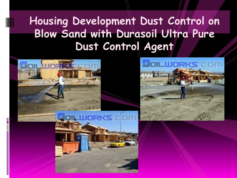 Housing Development Dust Control on Blow Sand with Durasoil Ultra Pure Dust Control Agent