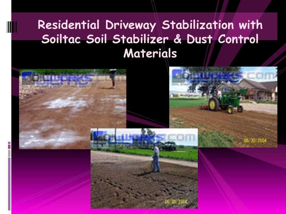 Residential Driveway Stabilization with Soiltac Soil Stabilizer & Dust Control Materials