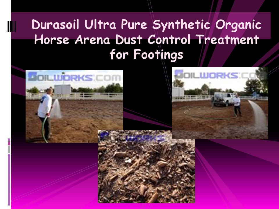 Durasoil Ultra Pure Synthetic Organic Horse Arena Dust Control Treatment for Footings