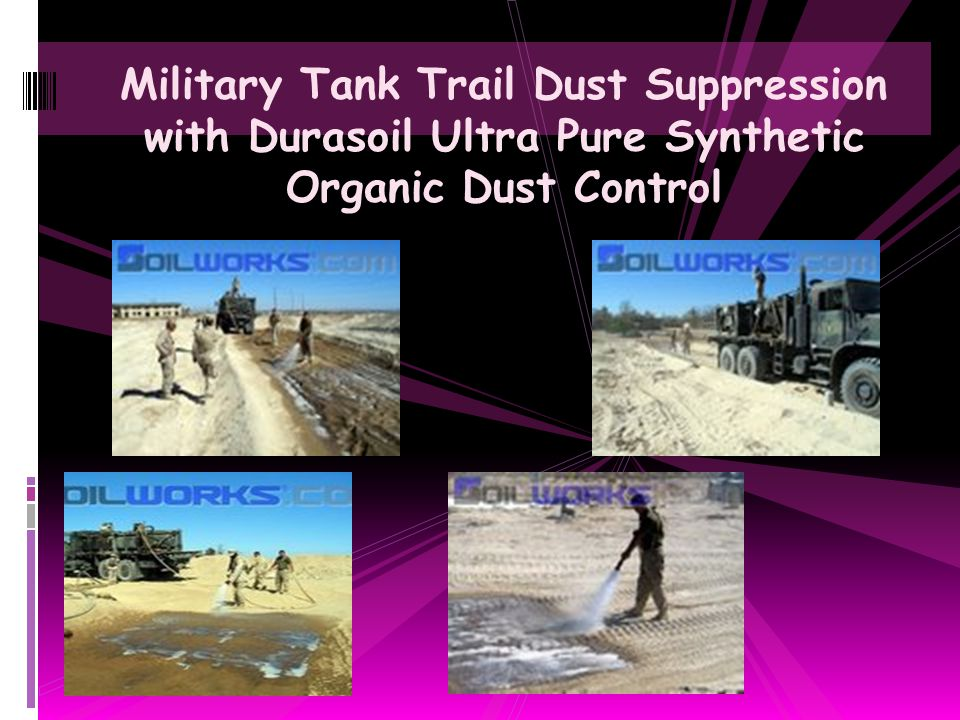Military Tank Trail Dust Suppression with Durasoil Ultra Pure Synthetic Organic Dust Control