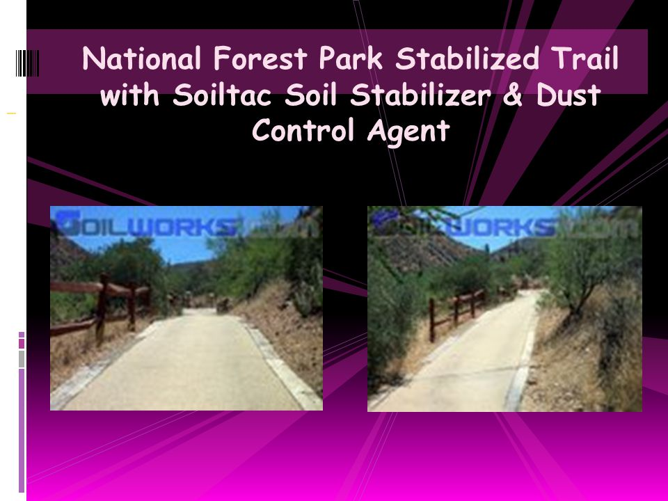 National Forest Park Stabilized Trail with Soiltac Soil Stabilizer & Dust Control Agent
