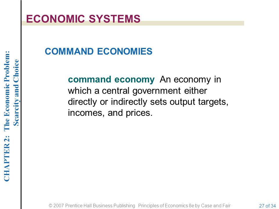 ECONOMIC SYSTEMS COMMAND ECONOMIES
