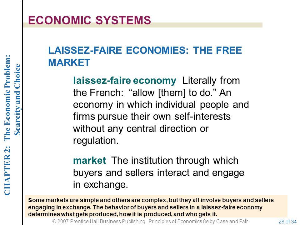 ECONOMIC SYSTEMS LAISSEZ-FAIRE ECONOMIES: THE FREE MARKET