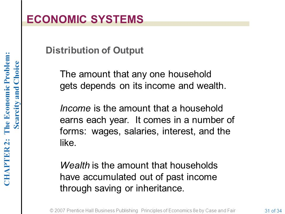ECONOMIC SYSTEMS Distribution of Output