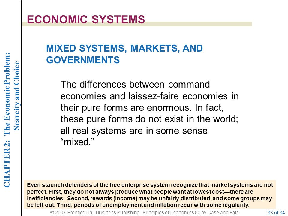 ECONOMIC SYSTEMS MIXED SYSTEMS, MARKETS, AND GOVERNMENTS