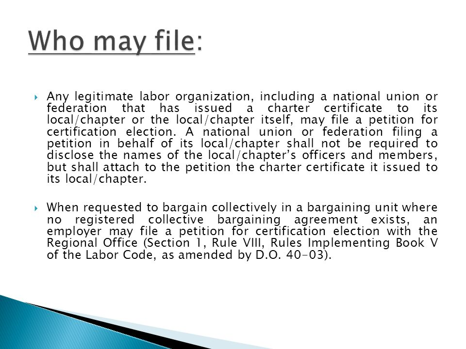 Who may file: