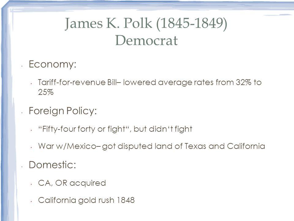 James K. Polk (1845-1849) Democrat