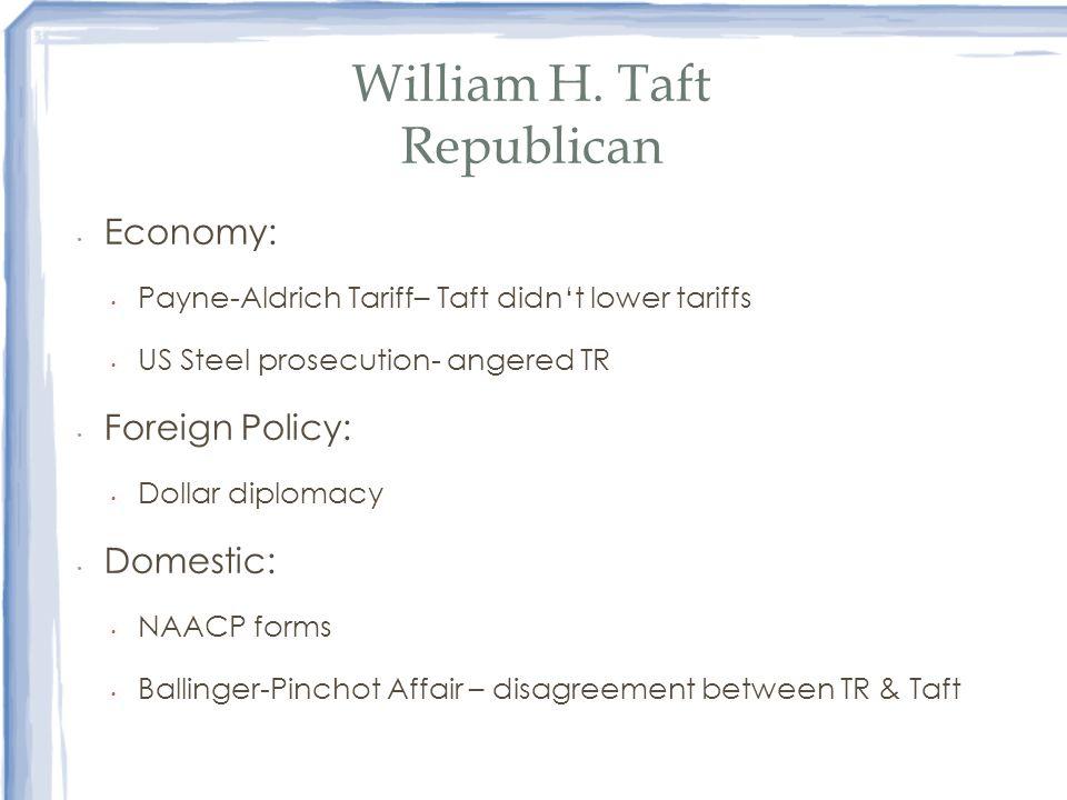 William H. Taft Republican
