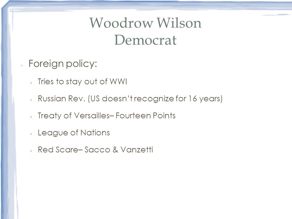 Woodrow Wilson Democrat